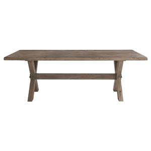 "72"" Rectangular Table with Industrial Style"