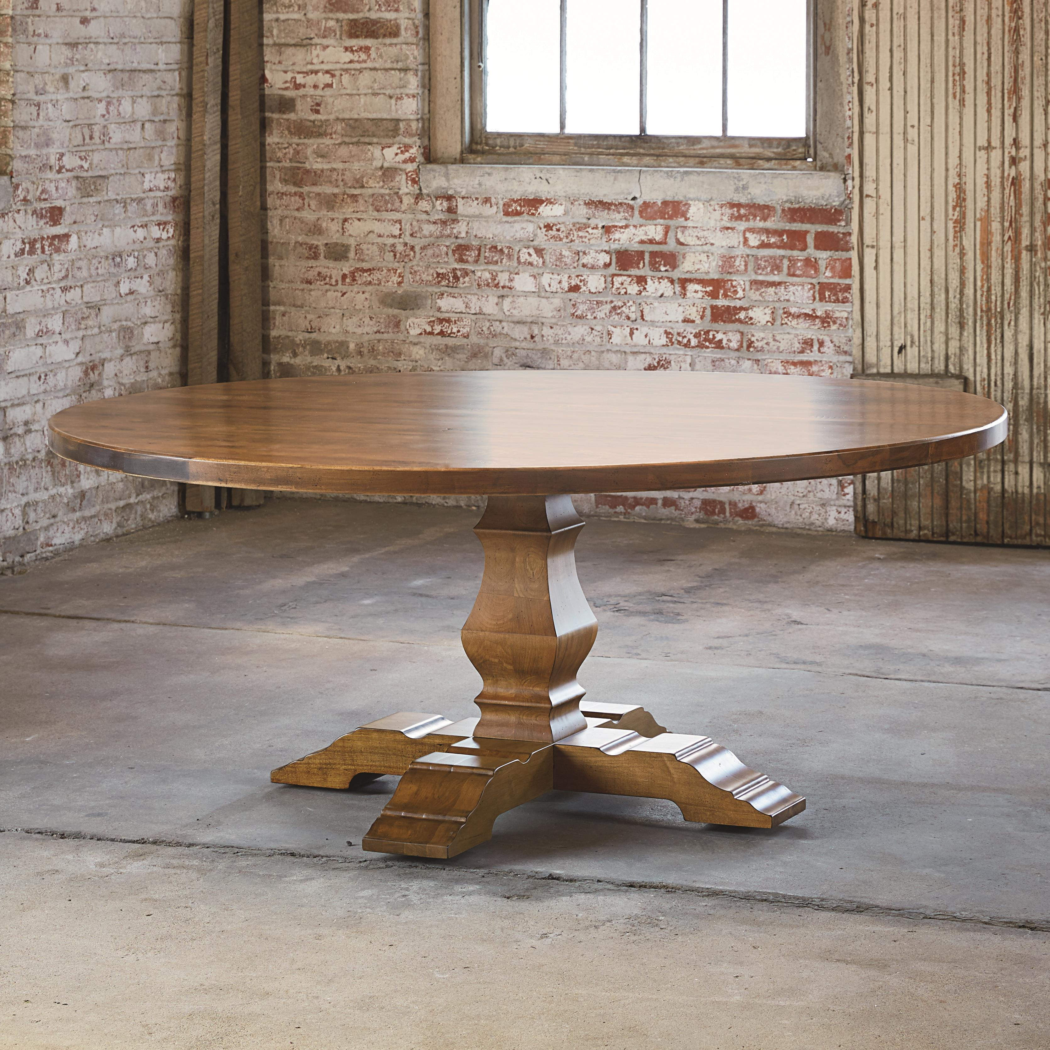 "Bench Made Maple 72"" Tavern Table by Bassett at Bassett of Cool Springs"