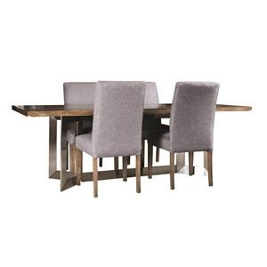Rectangular Live Edge Table with Steel Base
