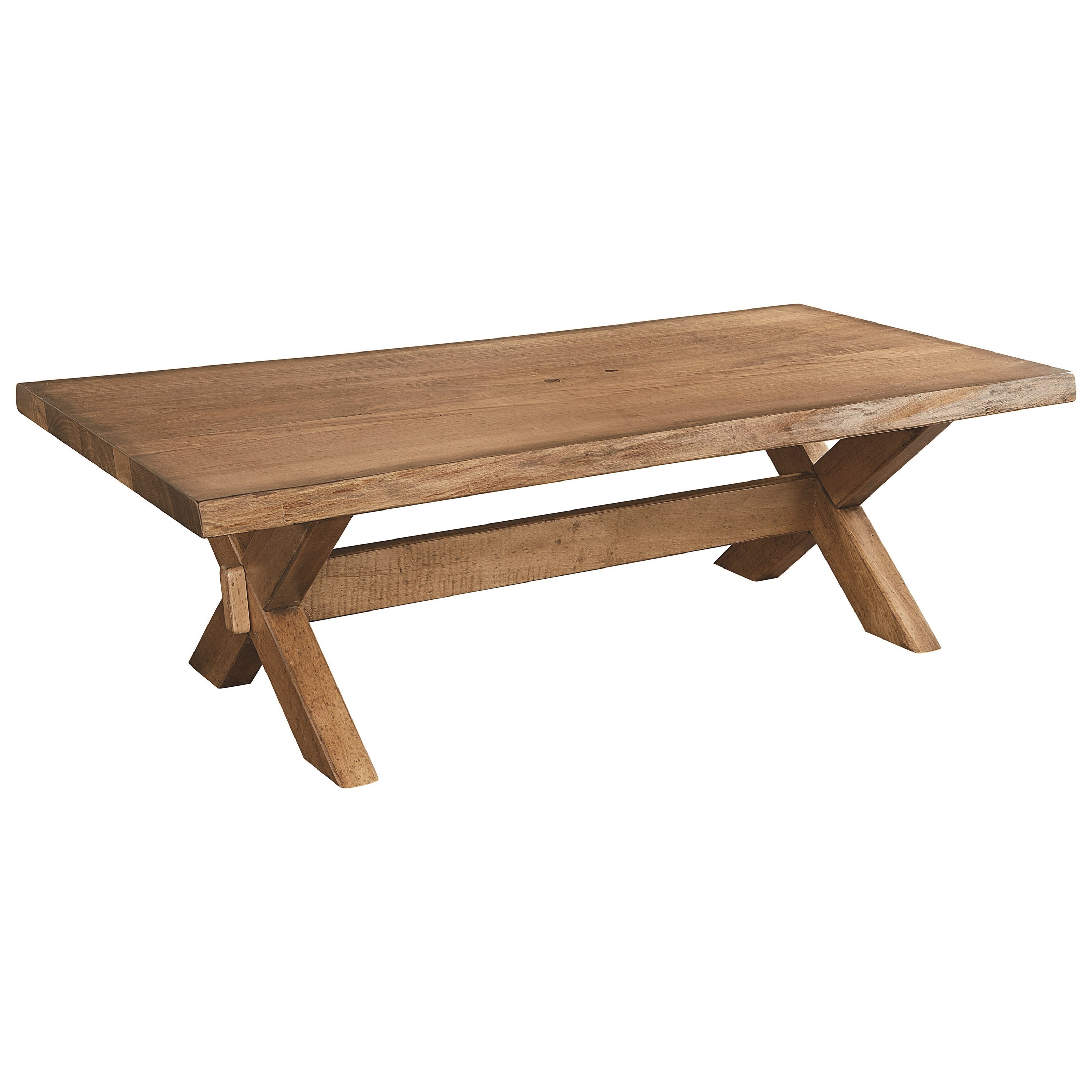 Bench Made Maple Cross Buck Live Edge Cocktail Table by Bassett at Bassett of Cool Springs