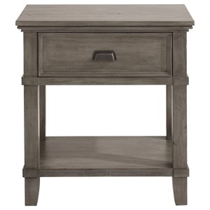 Nightstand with Drawer and Fixed Shelf