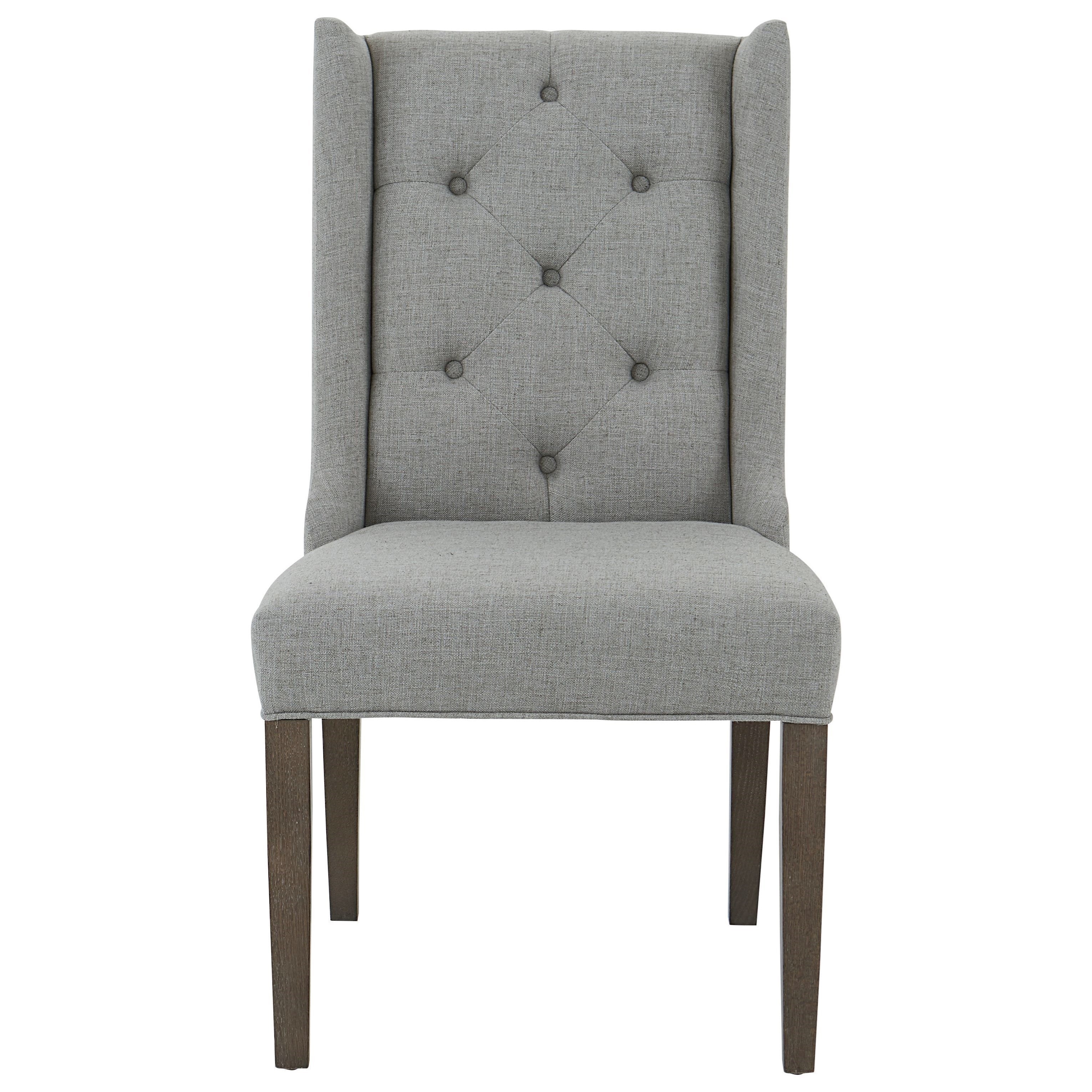 Brooke Wing Back Side Chair with Tufted Back by Bassett at Williams & Kay