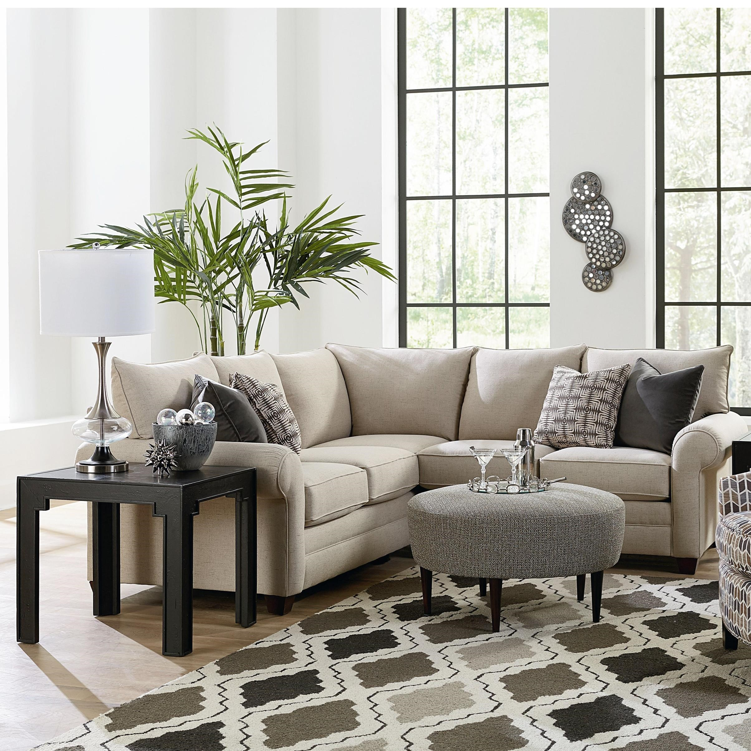 Cameron Sectional Living Room Group by Bassett at Esprit Decor Home Furnishings
