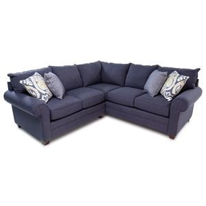 Transitional 2-Piece Sectional Sofa