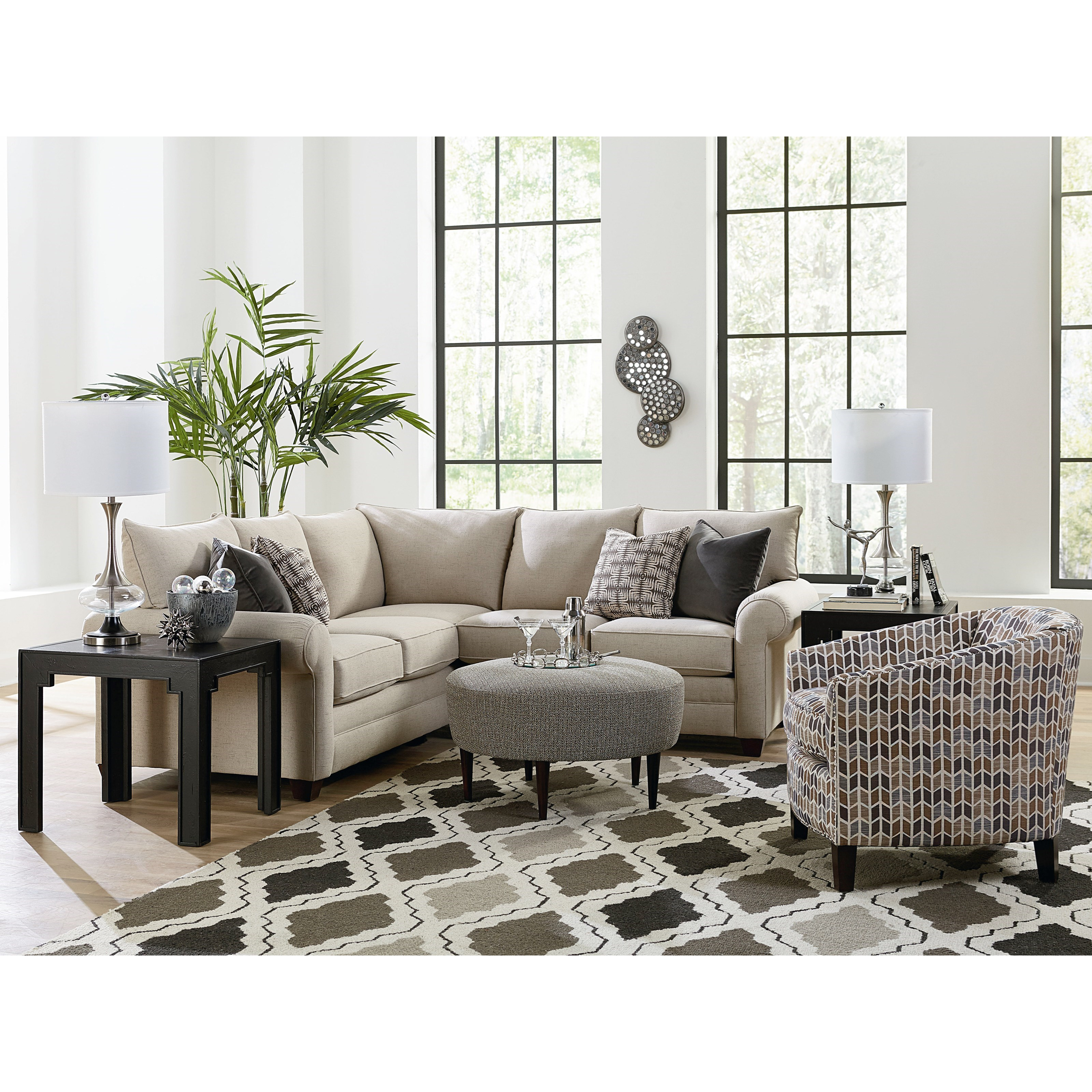 Cameron 2-Piece Sectional by Bassett at Bassett of Cool Springs