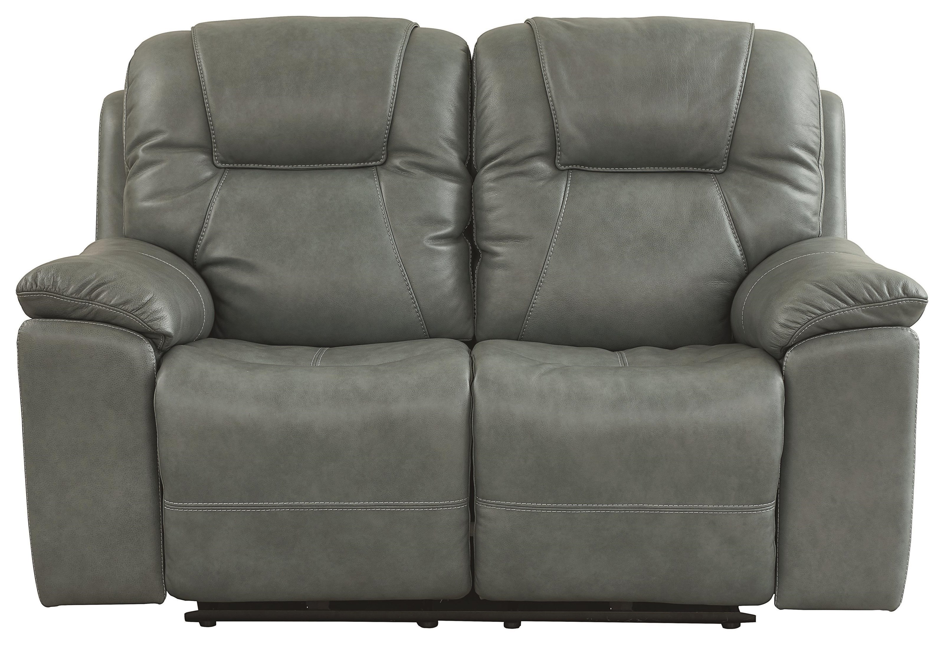Club Level - Chandler Reclining Loveseat by Bassett at Johnny Janosik