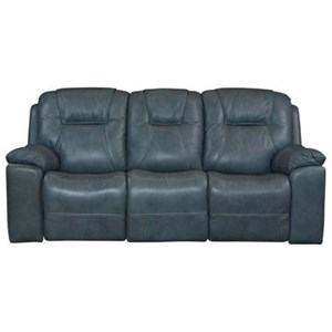 Casual Reclining Sofa with Cup Holders