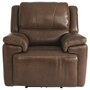 Casual Wall Saver Power Recliner with Adjustable Headrest and USB Port