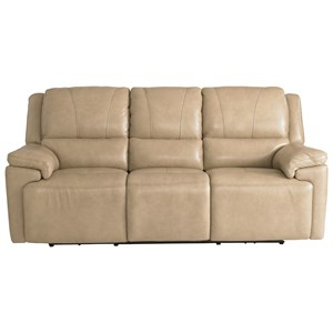 Casual Power Reclining Sofa with Adjustable Headrests and USB Ports