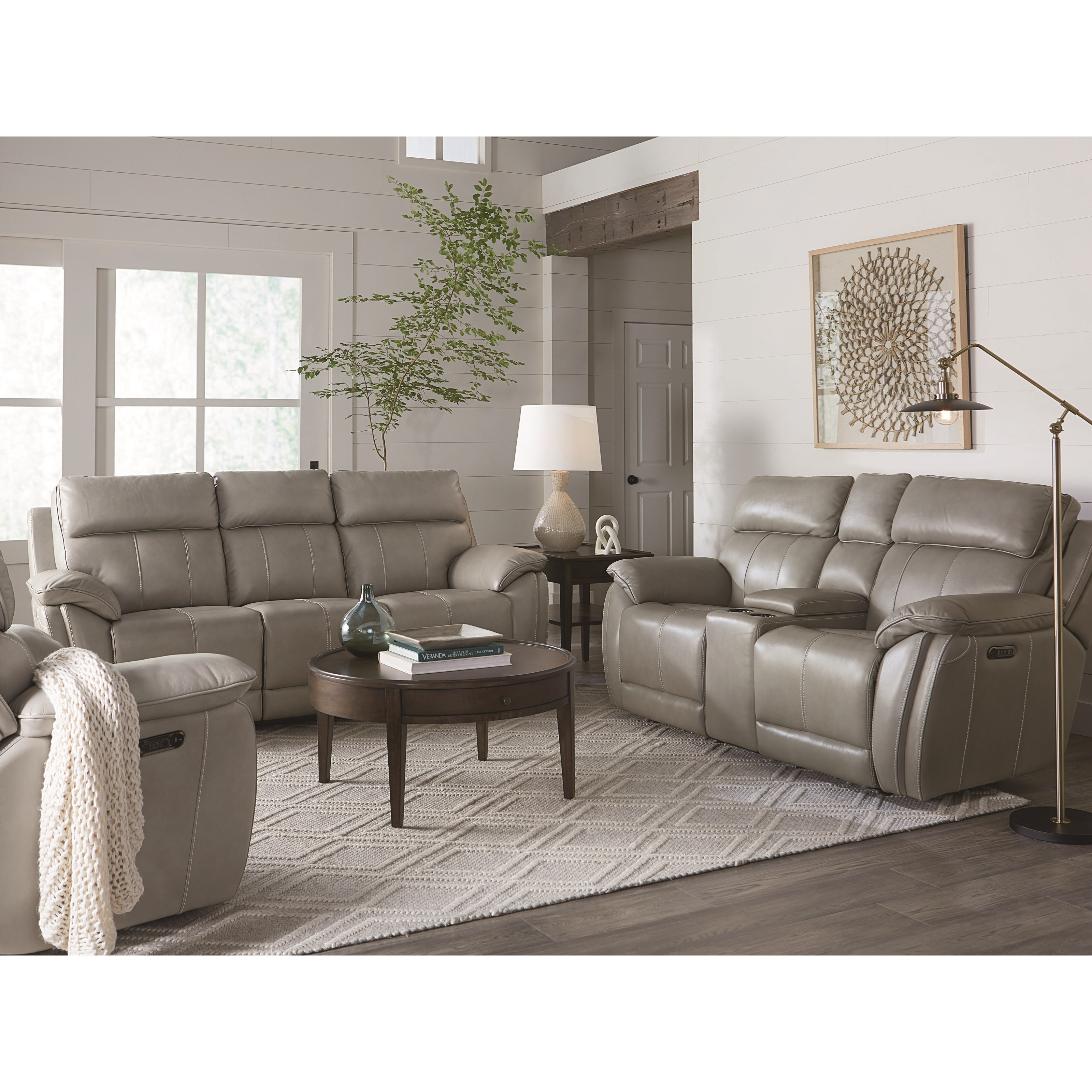 Club Level - Levitate Reclining Living Room Group by Bassett at Esprit Decor Home Furnishings