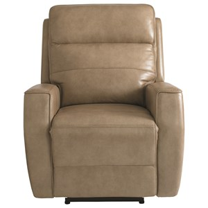 Contemporary Lay-Flat Wallsaver Power Recliner with USB Ports and Power Headrest