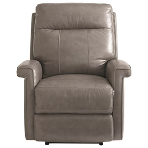 Contemporary Lay-Flat Wallsaver Power Recliner with USB Port and Power Headrest