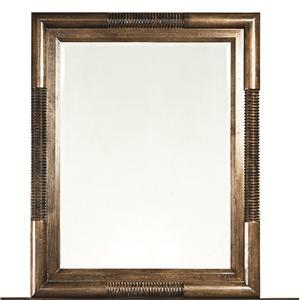 Rectangular Landscape Mirror with Wooden Frame