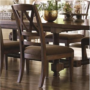 Dining Side Chair with X-Back and Upholstered Seat