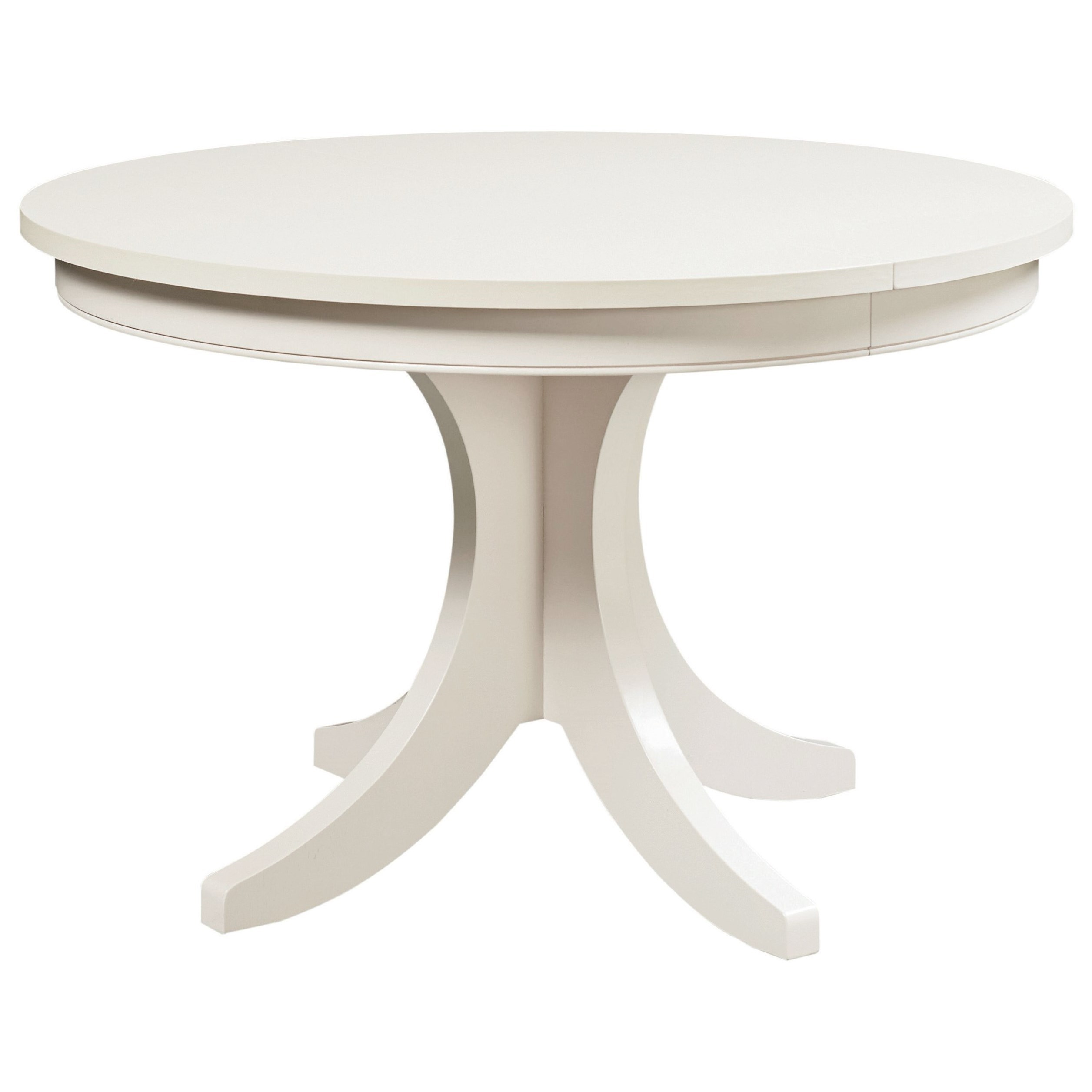 Custom Dining Customizable Round Pedestal Table by Bassett at VanDrie Home Furnishings