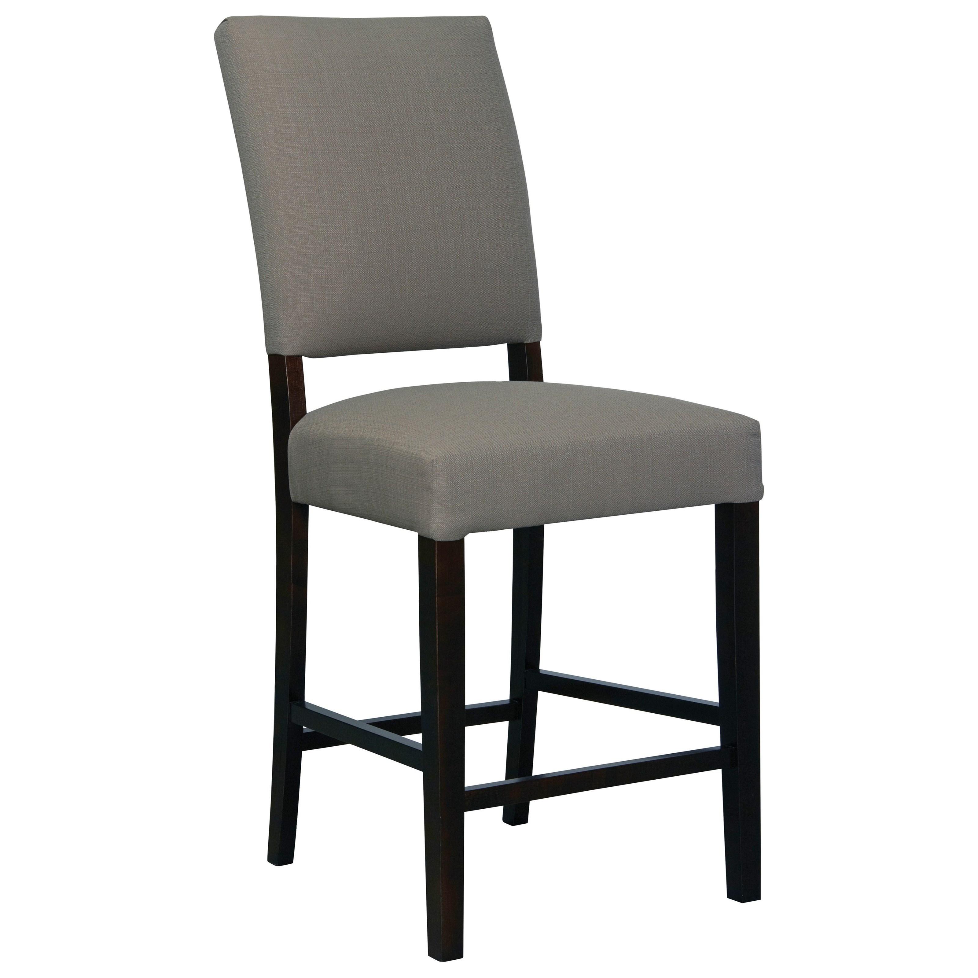 Custom Dining Chairs Medium Upholstered Bar Stool by Bassett at Bassett of Cool Springs
