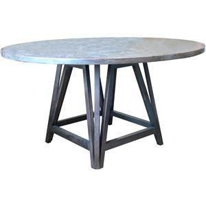 "54"" Arts & Craft Bluestone Top Table"