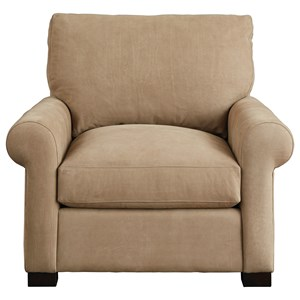 Casual Upholstered Chair with Rolled Arms