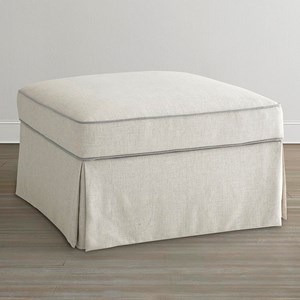 Small Square Ottoman with Skirted Base