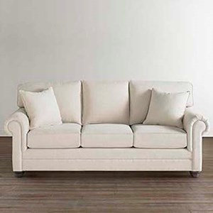 Custom Sofa with Rolled Arms