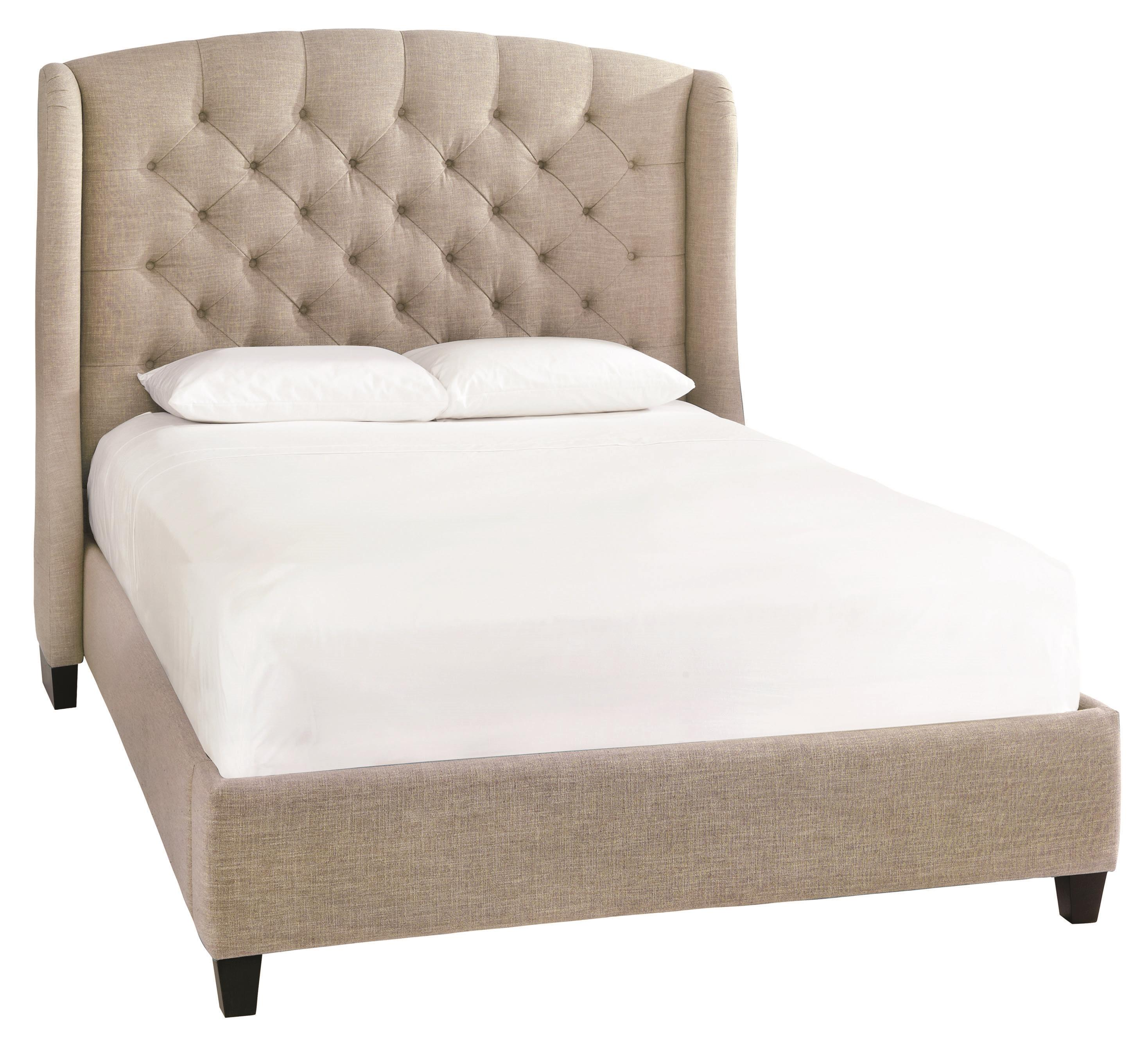 Custom Upholstered Beds Paris King Size Upholstered Bed by Bassett at Suburban Furniture