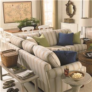 Bassett Custom Upholstery - Loft <b>Custom</b> 3 pc. Sectional