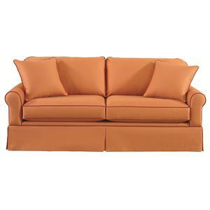 <b>Customizable</b> Stationary Sofa with Sock Arms and Skirt