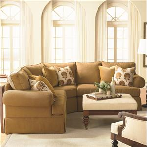 Bassett Custom Upholstery - Manor <b>Custom</b> 3 pc. Sectional