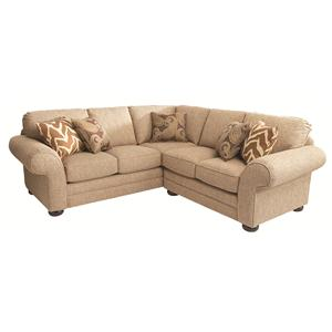 Bassett Custom Upholstery - Manor <b>Custom</b> 2 pc. Sectional