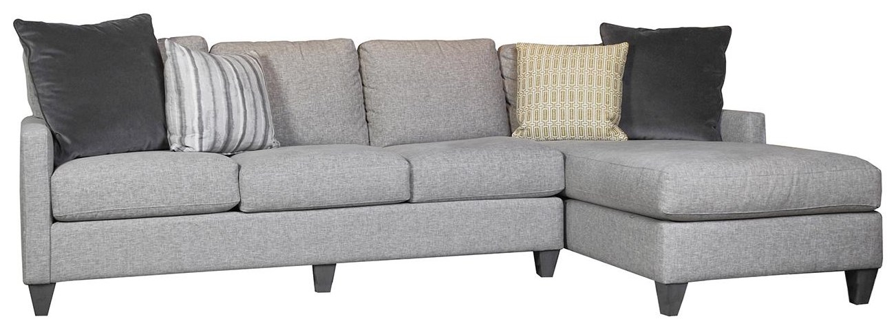 Custom Upholstery Sectional with Chaise by Bassett at Williams & Kay