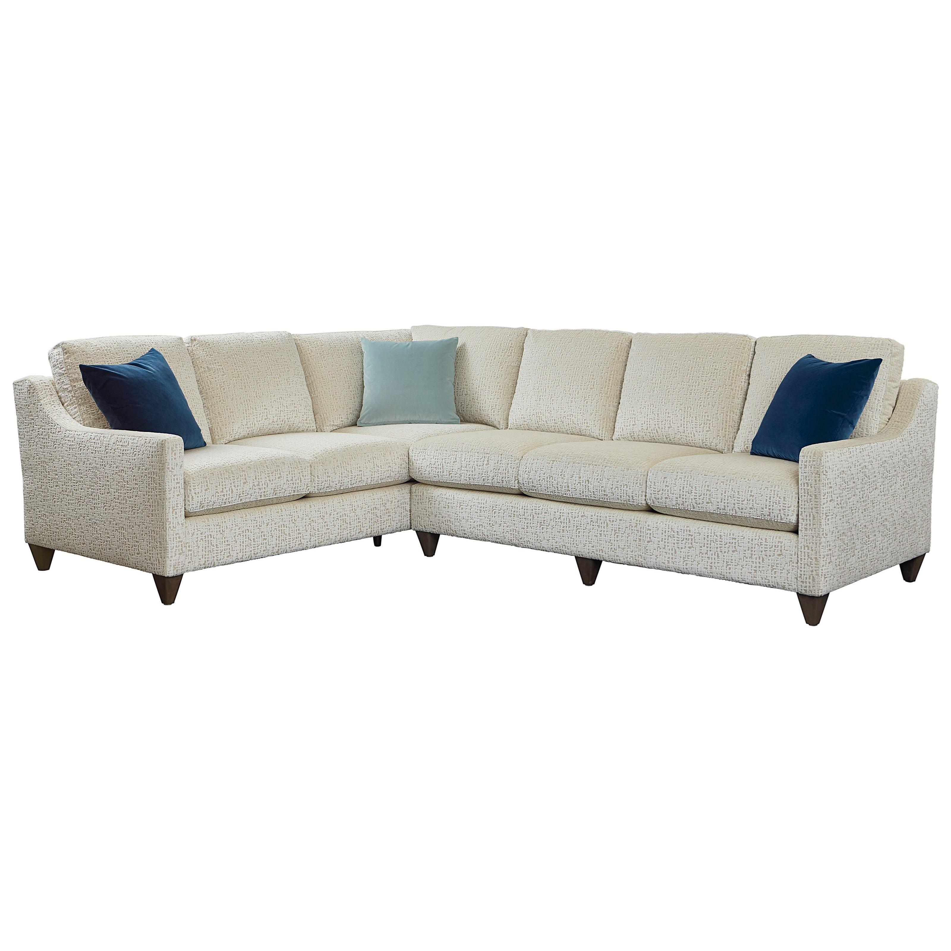 Custom Upholstery Customizable Sectional by Bassett at Bassett of Cool Springs