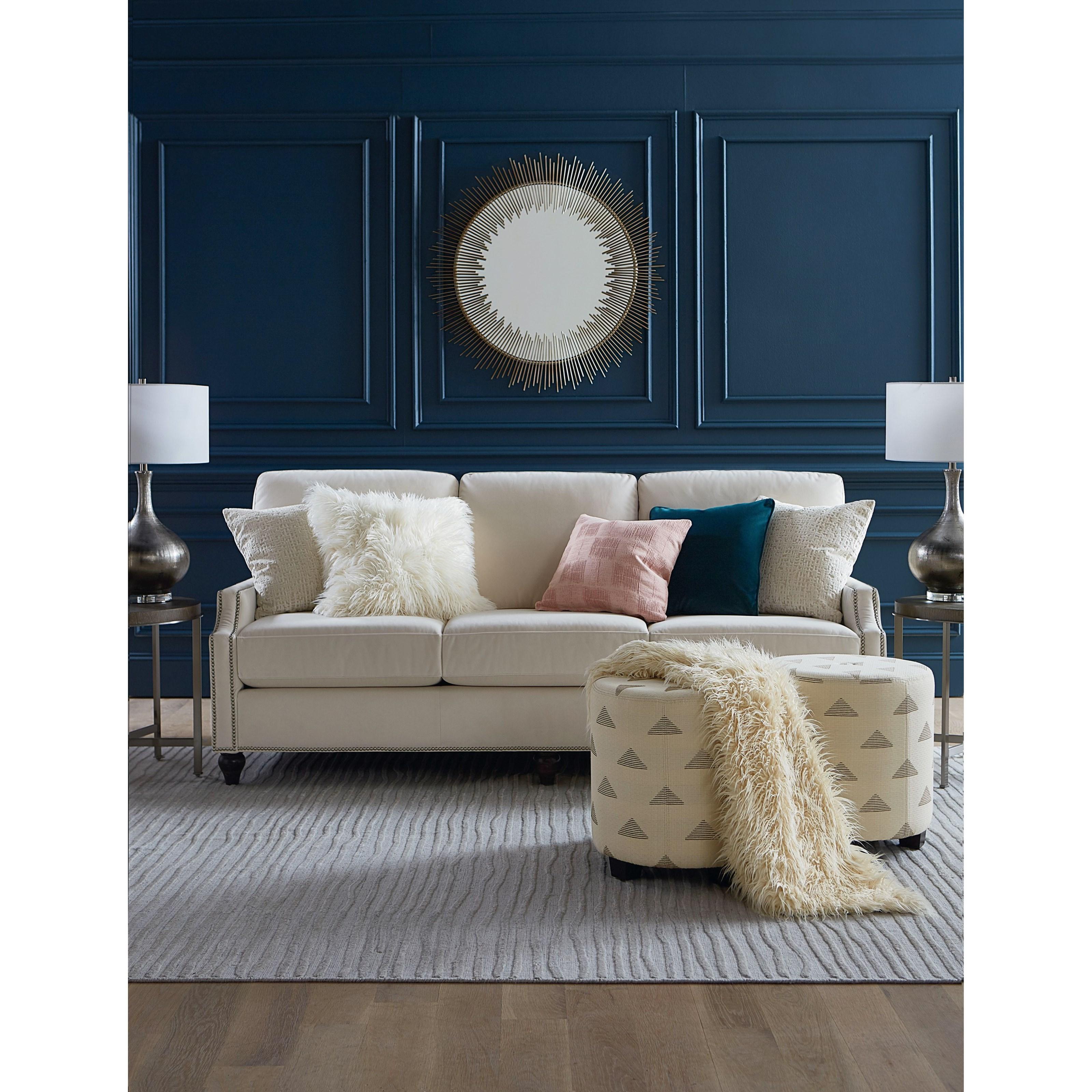 Custom Upholstery Customizable Classic Sofa by Bassett at Bassett of Cool Springs