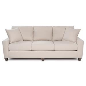 "Custom Design 96"" Sofa with Track Arms and Tapered Legs"