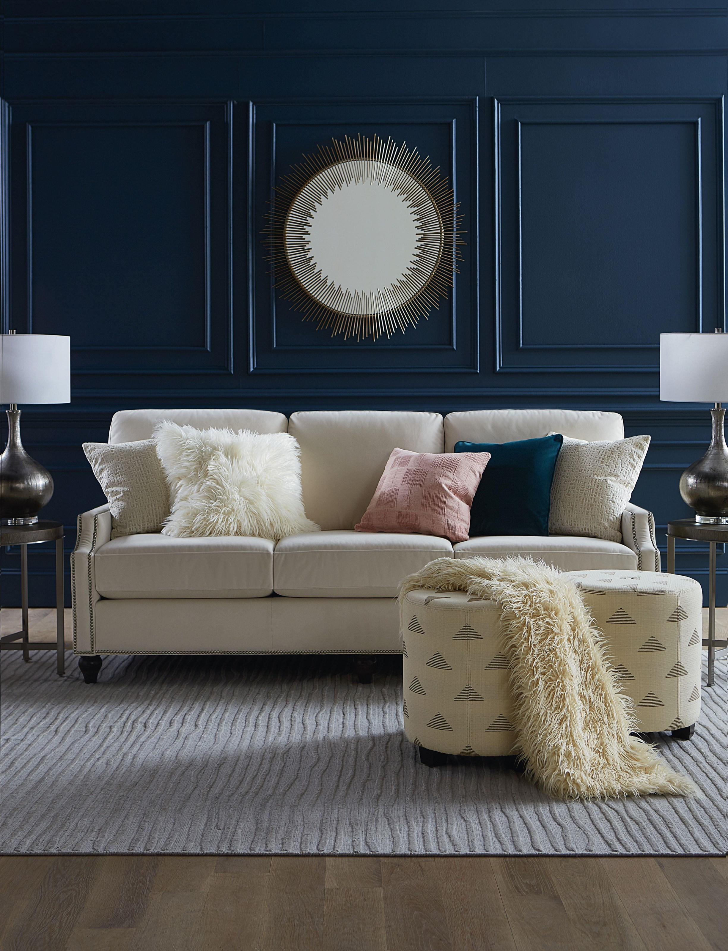 Custom Upholstery Living Room Group Bassett Custom by Bassett at Crowley Furniture & Mattress