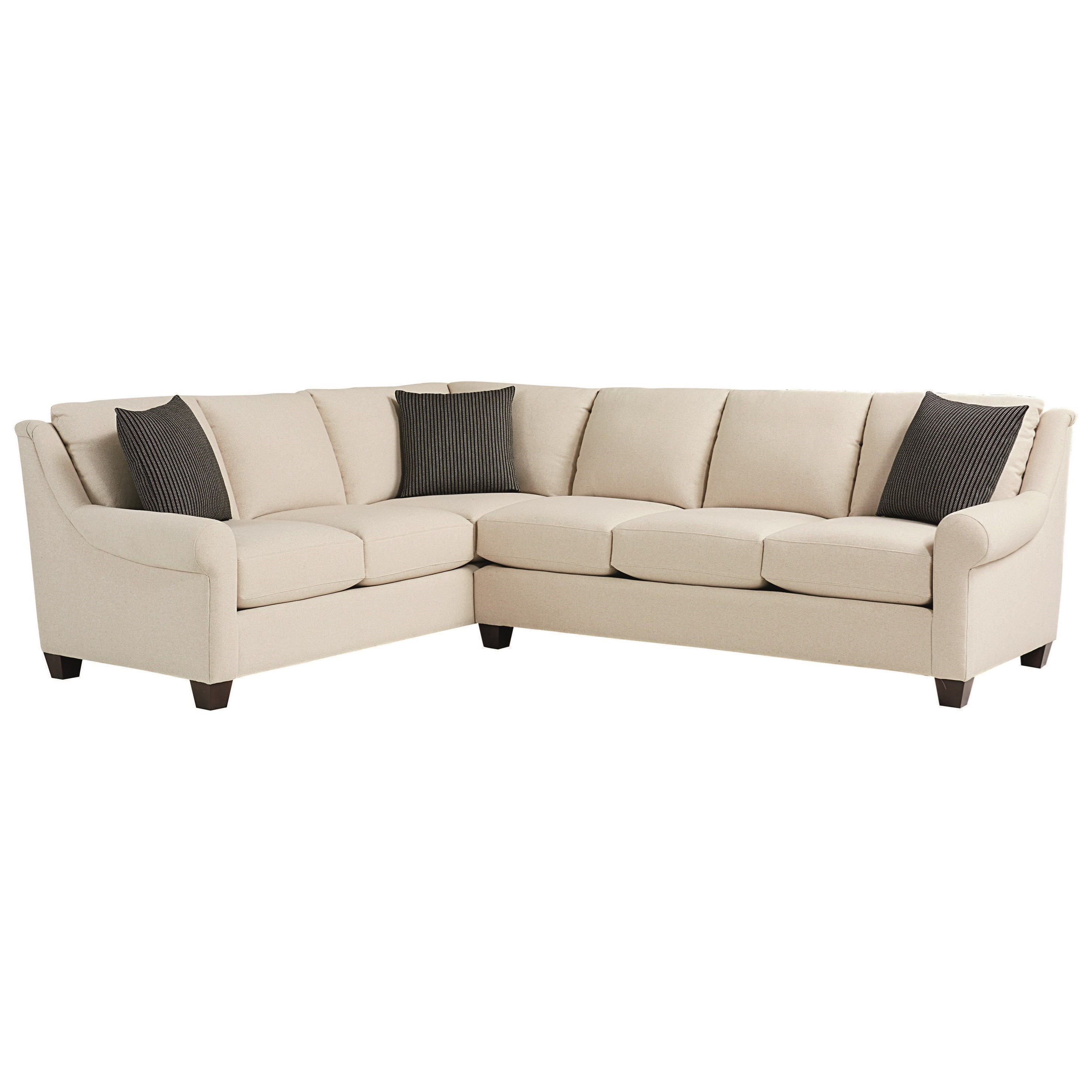 Ellery 5 Seat Sectional by Bassett at Fashion Furniture