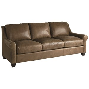 "Transitional 84"" Sofa with Sock Rolled Arms"