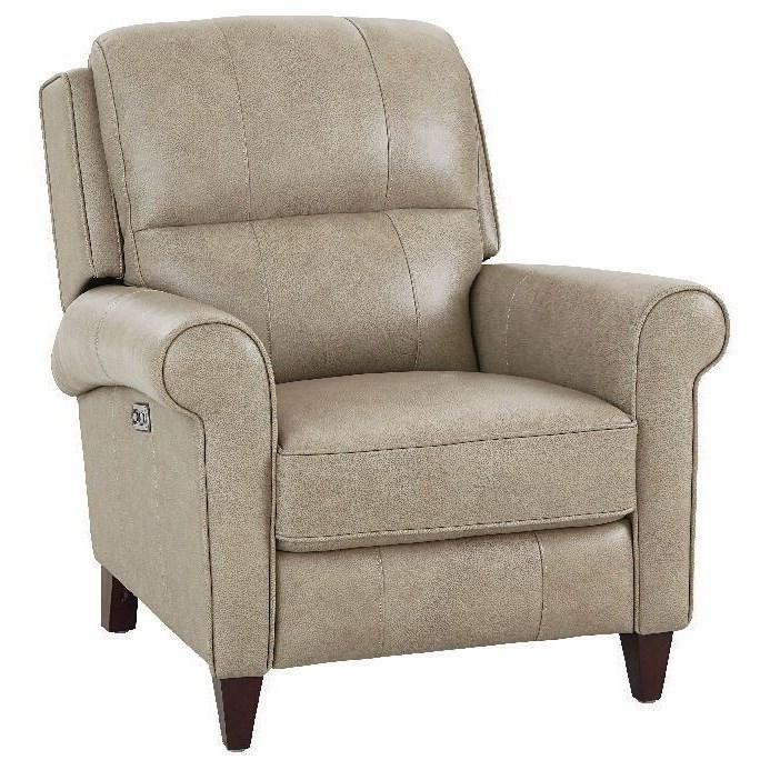 Elliot Power Headrest Hi-Leg Recliner by Bassett at Crowley Furniture & Mattress