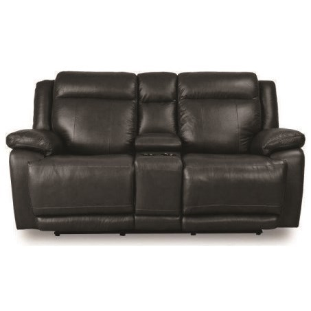 Evo Power Reclining Console Love Seat by Bassett at Bassett of Cool Springs