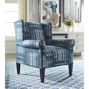 Transitional Chair with Sock Rolled Arms