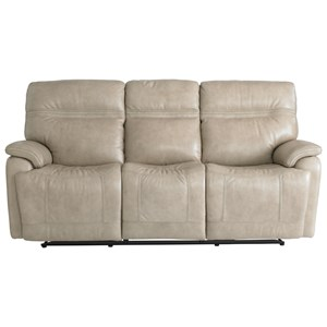 Casual Power Reclining Sofa with Power Headrests, Lumbar and USB Ports