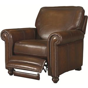 High Recliner with Nail Head Trimming