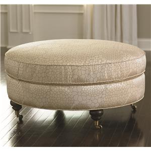 Round Ottoman with Classic Yet Casual Style