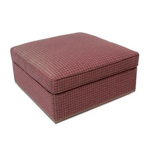 Small Square Storage Ottoman with Casters