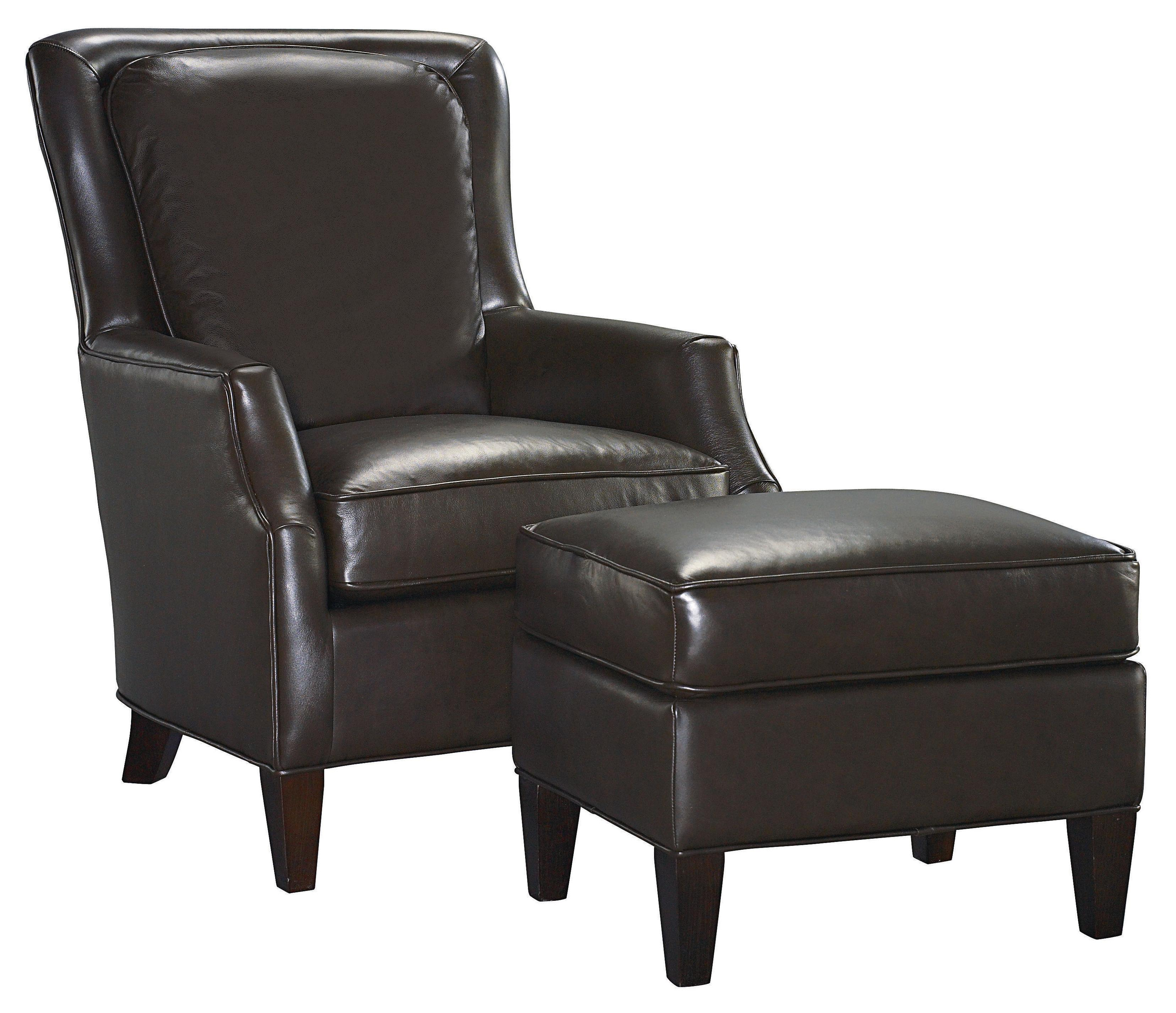 Kent  Chair and Ottoman by Bassett at Williams & Kay