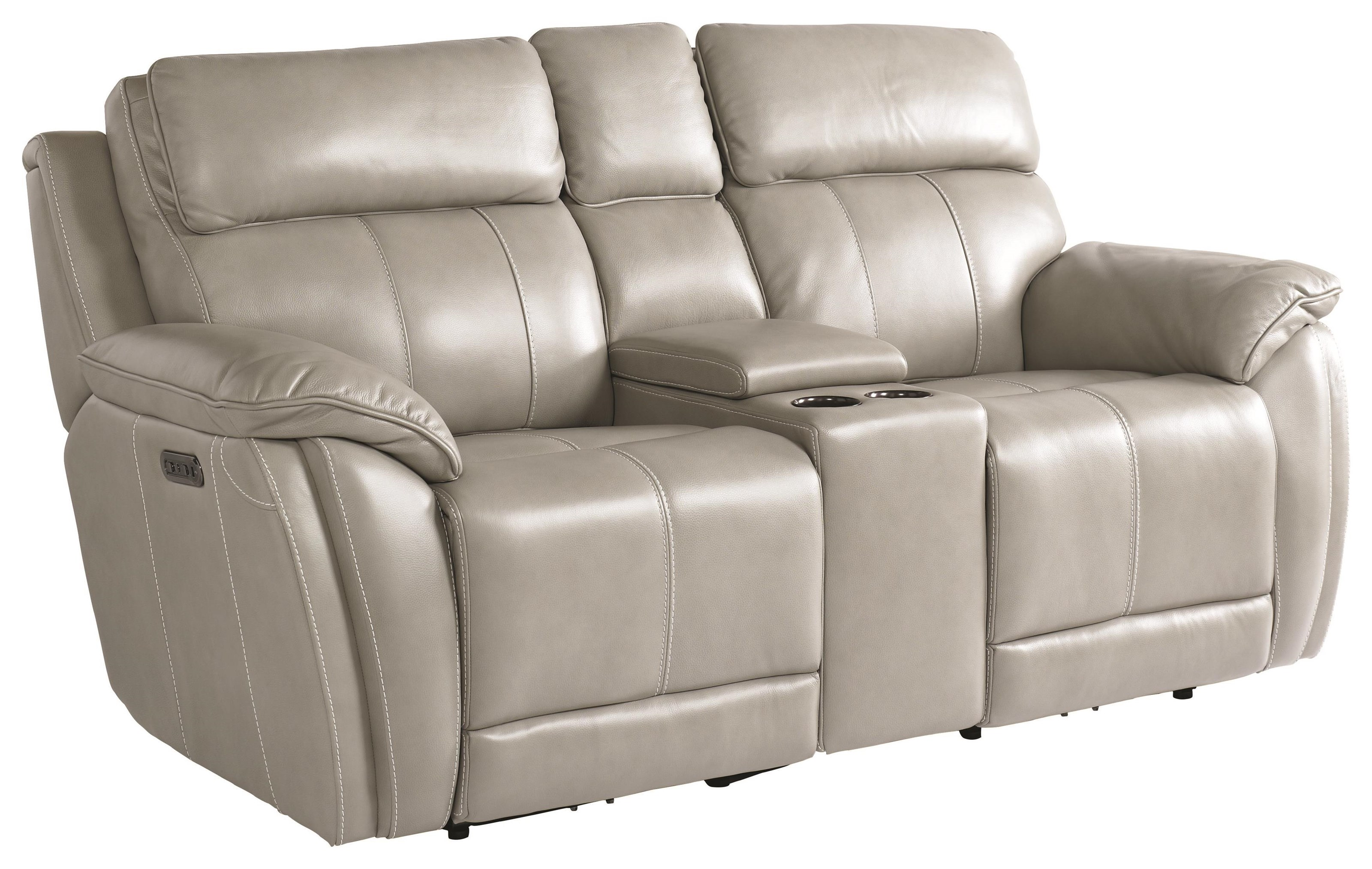 Levitate Power Loveseat With Console by Bassett at Johnny Janosik