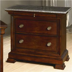 Bassett Louis-Philippe Bedside Chest w/ Marble Top