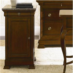 Bassett Louis-Philippe Bedside Cabinet w/ Marble Top