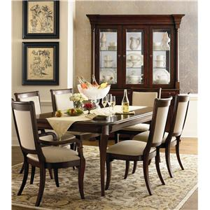 Bassett Louis-Philippe 7 Piece Table & Chair Set