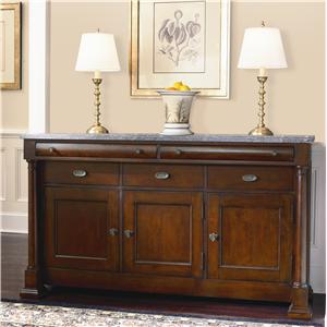 Bassett Louis-Philippe China Buffet with Marble Top
