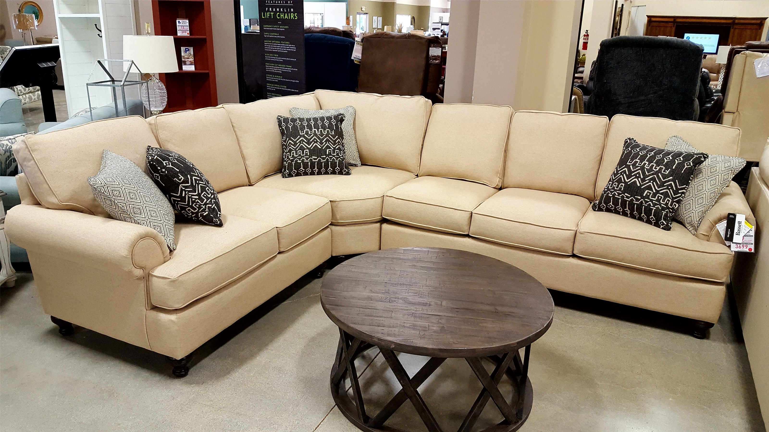 Madison 3 Piece Sectional by Bassett at Virginia Furniture Market